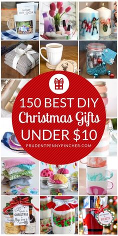 150 Best DIY Christmas Gifts Under $10 #DIYGifts #ChristmasGifts #Christmas