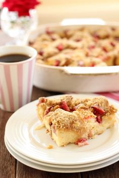 This Strawberry Baked French Toast would be a perfect candidate for any of the Flexipan Molds! No sticky mess to clean up when it's gone... yes please!  www.demarleathome.com