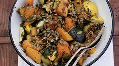 Rezept: Gebratener Kürbis mit Kürbiskernen