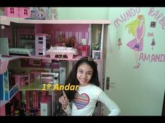 Tour pela Minha casa da barbie primeiro andar - YouTube