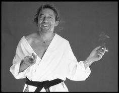 Gainsbourg by André Perlstein Serge Gainsbourg, Gainsbourg Birkin, Ruffle Blouse, Black And White, People, Smoking, Women, Photos, Ideas
