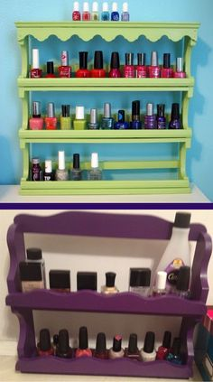 Nail Polish Storage Diy Shelf Hair Beauty That I Love