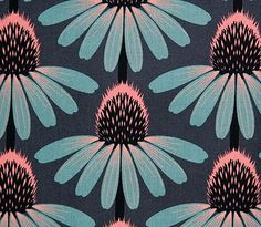 fabric can heal.  blog post on healing from emotional and physical pain through creative work. echinacea by annamariahorner, via Flickr