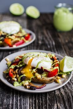 Tex-Mex Eggs Benedict with Grilled Potato Slabs + Avocado Lime Hollandaise | edibleperspective.com