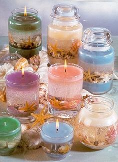 The best DIY projects & DIY ideas and tutorials: sewing, paper craft, DIY. Diy Candles Ideas How To Make Gel and Dessert Candles Tutorial by AJewelryC on Etsy -Read Gel Candles, Home Candles, Candle Lanterns, Scented Candles, Pillar Candles, Candle Decorations, Cheap Candles, Expensive Candles, Beeswax Candles