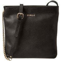 Furla Furla Julia Small Leather Crossbody (396240001) ($210) ❤ liked on Polyvore featuring bags, handbags, shoulder bags, black, purse shoulder bag, handbags crossbody, leather shoulder bag, crossbody purse and leather crossbody