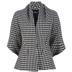 ALEXANDER MCQUEEN ARCHIVE houndstooth jacket ($2,600) ❤ liked on Polyvore