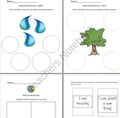 Natural Resources from Little Miss Megan on TeachersNotebook.com (5 pages)  - Worksheets and Activity to go along with a unit on natural resources
