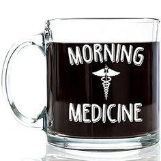 Morning Medicine Funny Glass Coffee Mug 13 oz - Cool Birthday Present Idea for Coffee Lovers, Men & Women, Him or Her - Unique Valentines Day Gifts for a Mom, Dad, Husband, Wife, Boyfriend, Girlfriend Got Me Tipsy http://www.amazon.com/dp/B017QRAOJQ/ref=cm_sw_r_pi_dp_q7rQwb0ZFF191