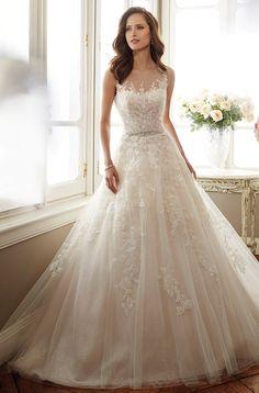 Wedding gown by Sophia Tolli for Mon Cheri.