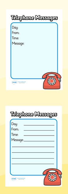 Twinkl Resources >> Travel Agents Telephone Message Sheets   >> Classroom printables for Pre-School, Kindergarten, Elementary School and beyond! Topics, Travel, Role Play