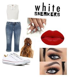 """""""Untitled #102"""" by kviggi ❤ liked on Polyvore featuring Converse, Silver Jeans Co., Lipsy, Winky Lux and Urban Outfitters"""