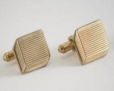 Vintage Cufflinks: 3-D Cube Shaped Classic Gold by CuffsandClips