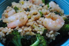 Shrimp and Zucchini Barley Risotto - Idea for whole grains week