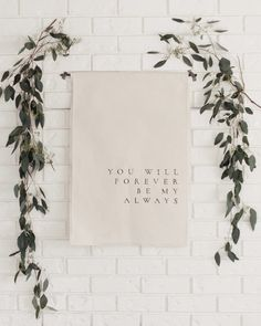 Your place to buy and sell all things handmade Wedding Calligraphy Canvas Banner // You Will Forever By My Always Quote // Wedding Wall Hanging // Wedding Sign // Fabr. Wedding Canvas, Wedding Wall, Wedding Fabric, Wedding Quotes, Diy Wedding, Dream Wedding, Wedding Ideas, Wedding Ceremony, Wedding Venues