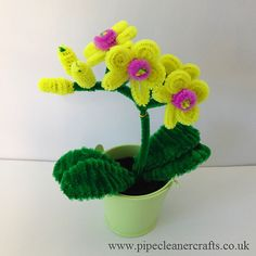 Pipe Cleaner Crafts for Kids | Pipe Cleaner Orchid - Pipe Cleaner Crafts