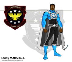 Lord Marshall Powered by on DeviantArt Comic Character, Character Design, Character Concept, Concept Art, Superhero Characters, Fictional Characters, Black Characters, Fantasy Characters, League Of Heroes