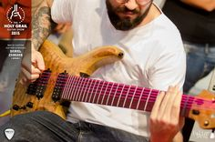Exhibitor at the Holy Grail Guitar Show 2015: Daniel Cabezas, Bacce Custom Guitars & Basses, Spain. www.bacceguitars.com,  www.facebook.com/BacceCustomGuitars www.holygrailguitarshow.com/exhibitors/bacce-custom-guitars-basses