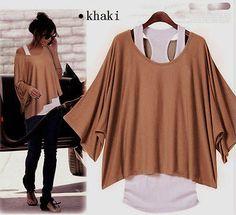 Ladies Girl 2 Pcs Short Sleeve Loose Vest Top T-Shirt Size M L XL 8 10 12 14 16
