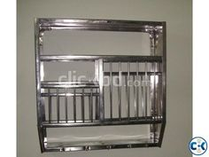 Stainless steel wall-mounted plate rack | ClickBD large image 0 & Wall Mounted Plate Rack Shabby Vintage Chic Kitchen Plate Rack New ...