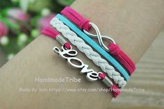 Infinity & Love charm BraceletAntique silver Wax by HandmadeTribe, $3.50 Lovely handmade jewelry