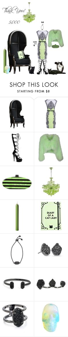 """Thank You Everyone!!!"" by blackmagicmomma ❤ liked on Polyvore featuring Pleaser, Yves Salomon, Edie Parker, Cyan Design, Valfré and Kendra Scott"