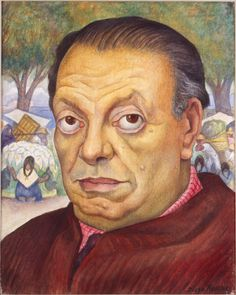 "Diego Rivera - self-portrait ""If I ever loved a woman, the more I loved her, the more I wanted to hurt her. Frida was only the most obvious victim of this disgusting trait."" Diego Rivera Creo que esto explica su relación. No tienen una relación normal. Art Society, Fine Art, Painter, Oil Painting Pictures, Artist, Painting, Muralist, Portrait, Diego Rivera Art"