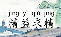 "Literally Chinese idiom 精益求精 jīng yì qiú jīng means to improve on already good enough accomplishment. 精 jīng means ""perfect"", 益 yì means ""more"", 求精 qiú jīng means ""improve on perfection"".    It is actually a quite positive word. It is always used on people that are not satisfied with the accomplishment they've got, and want to do more and better."