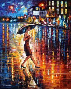 Late Return — PALETTE KNIFE Oil Painting On Canvas by AfremovArtStudio, $239.00