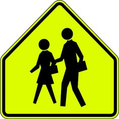 School Crossing Sign MUTCD S1-1