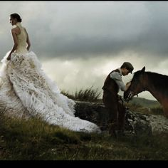 Clearly this dress is ideal for horseback riding. I must have it.