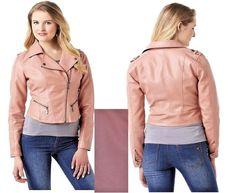 Simply Emma Womens Plus Moto Jacket Faux Leather Old Rose size 2X NEW  29.99 http://www.ebay.com/itm/Simply-Emma-Womens-Plus-Moto-Jacket-Faux-Leather-Old-Rose-size-2X-3X-NEW-/232395176164?ssPageName=STRK:MESE:IT