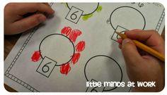 Little Minds at Work: Early Number Sense {freebies} Preschool Math, Math Classroom, Teaching Math, Math Activities, Maths, Math Games, Classroom Ideas, Math Stations, Math Centers