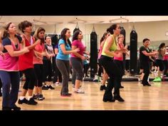 Marc Anthony - Vivir Mi Vida - Zumba Sandra - YouTube hard to follow, but fun, even if you just spaz out to the beat.