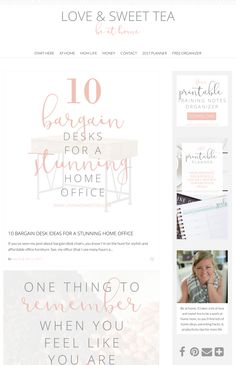 Love the typography and simple design elements of this blog design. Running on an Angie Makes Wordpress theme!