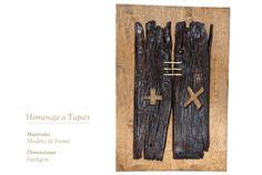 Homenaje a Antoni Tapies Office Supplies, Sculptures, Wood