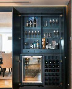 Weinlagerung Mini Bar Ideen - t's recently been another wine-filled yr Home Bar Counter, Bar Counter Design, Home Bar Cabinet, Bar Cabinets For Home, Built In Bar Cabinet, Drinks Cabinet, Modern Bar Cabinet, Armoire Bar, Bar Kitchen