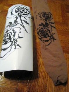 DIY Tattoo Tights with a fabric marker, great project for the new Sharpie fabric markers!