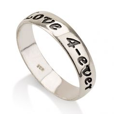 Sterling Silver 0.925 Print Font Name Ring