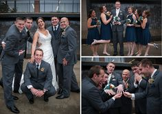 Shots to have fun with the wedding party. #WeddingPhotography -- Emily & Sean | Slippery Rock, PA Wedding — Moraes Photography