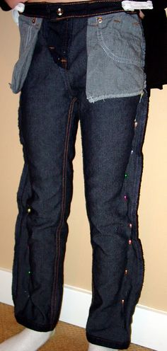 Holy Craft: Making your own skinny jeans from jeans in your drawer-kids version