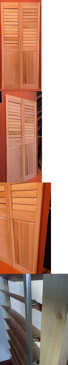 Shutters 66799: Raised Panel Plantation Shutters  Solid Wood  Unfinished  U003e  BUY IT