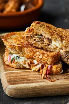 Panini Sandwiches, Sandwich Recipes, Sandwich Croque Monsieur, Hamburgers, Pains, Enchiladas, Brunch Recipes, Grilling, Food And Drink