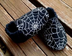 Spider Web Black and Silver Shimmery Baby and by WithinThePines