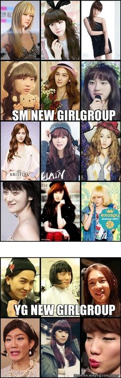 Chanyeol, Luhan, Xiumin and Baekhyun actually make really pretty girls!!!! XD