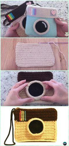 CrochetInstagram Camera Bag FreePattern with Video - Crochet Kids Bags Free Patterns
