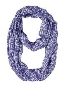 Add our Ultra Violet Abstract Infinity Scarf to your wardrobe to create a more dramatic style. https://www.primitivestarquiltshop.com/search?type=product&q=ultra+violet+abstract+infinity+scarf #accessorize
