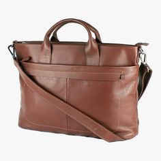 The clean lines of this stylish laptop bag in chocolate brown will make you look sharp in every situation. Spring Summer 2016, Men's Collection, Clean Lines, Chocolate Brown, Briefcase, Laptop Bag, Travel Bags, Brown Leather, Stylish