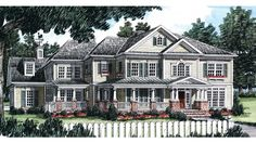 Farmhouse Style 2 story 5 bedrooms(s) House Plan with 4152 total square feet and 4 Full Bathroom(s) from Dream Home Source House Plans