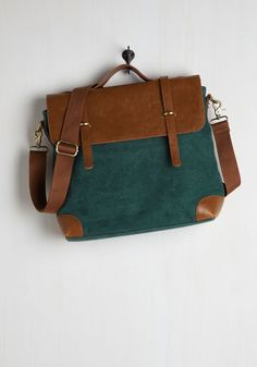 Play it School Bag. Toting around this vegan-friendly satchel, theres no denying your cool campus style. #green #modcloth